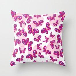 Little Butterflies Throw Pillow
