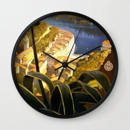 La Riviera italienne, Portofino près de S.Margherita et Rapallo Wall Clock