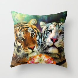 Tiger Lillies Throw Pillow
