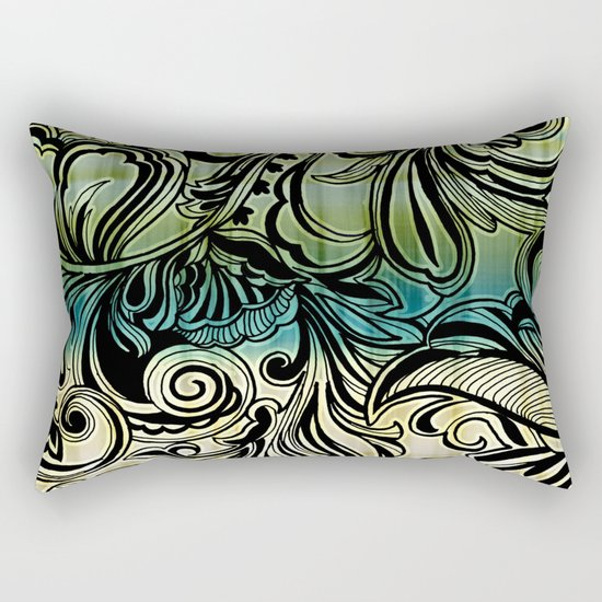 Swirl and Curl Rectangular Pillow