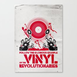 Vinyl Revolution Canvas Print