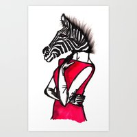striped Art Prints featuring Striped by Chetna Shetty