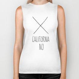 California No (T-Shirt) Biker Tank
