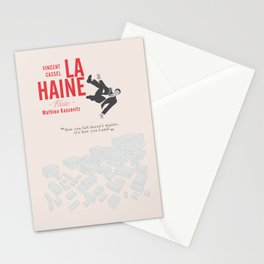La Haine (Hate) Vincent Cassel, Mathieu Kassovitz, alternative movie poster, banlieue french film Stationery Cards