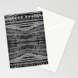 Linocut Tribal Pattern Stationery Cards