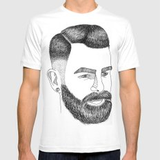 Haircut 60's MEDIUM Mens Fitted Tee White