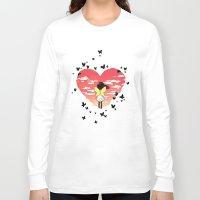butterflies Long Sleeve T-shirts featuring Butterflies by Freeminds
