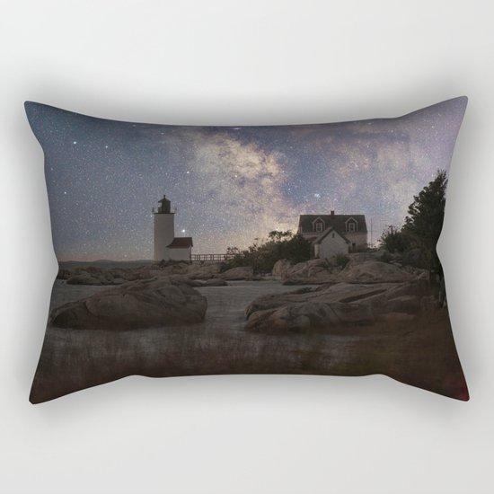 Photoart Lighthouse under the stars Rectangular Pillow