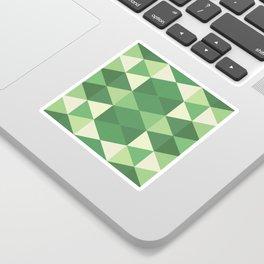 Triangular Geometric Pattern in Green Sticker