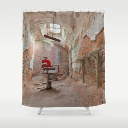 Abandoned Barber Prison Cell Shower Curtain