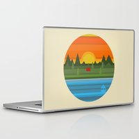 camping Laptop & iPad Skins featuring Camping by Becky Gibson