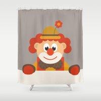 clown Shower Curtains featuring Clown by Design4u Studio