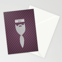 Albus (Famous mustaches and beards) Stationery Cards