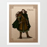 valar morghulis Art Prints featuring Orome by wolfanita