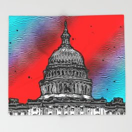 United States Capitol Building Throw Blanket