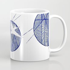 Blue Doodle Mug