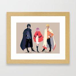 Team Capes Framed Art Print