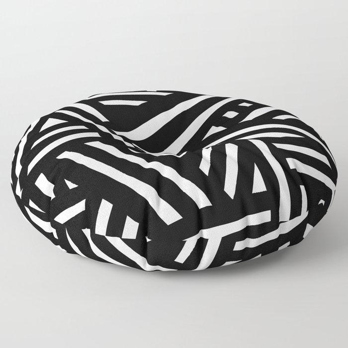 Monochrome 01 Floor Pillow