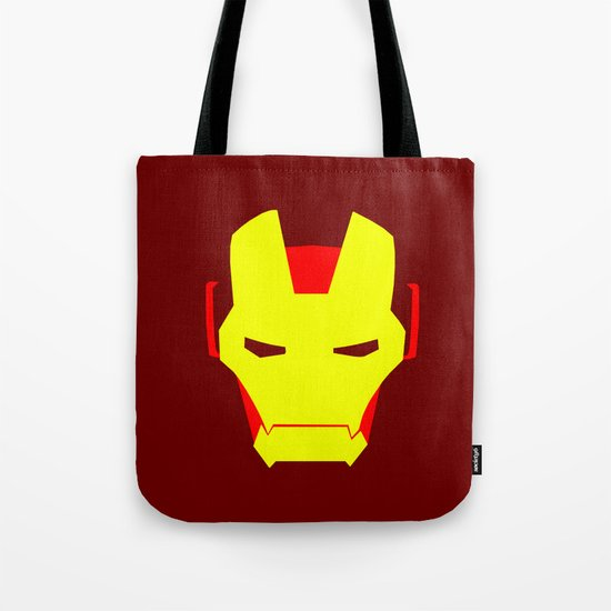 Minimalist Iron Man Tote Bag
