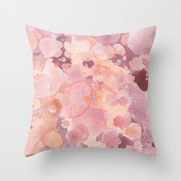 Rosy Tones Throw Pillow