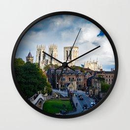 York City Walls and Minster Wall Clock