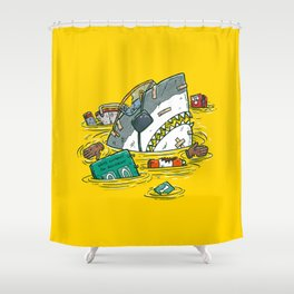 Safety Third Shark Shower Curtain