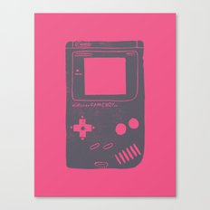 Game Boy on pink Canvas Print