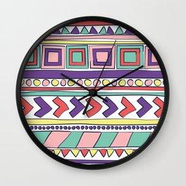 Bohemian Home pastels Wall Clock