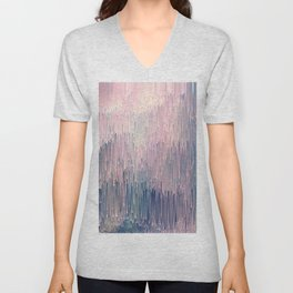 Blush Glitches Unisex V-Neck