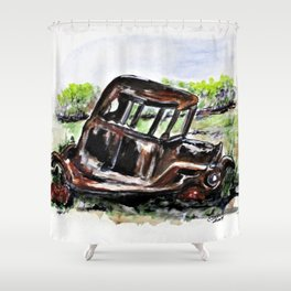 Wrecked And Rusting Shower Curtain