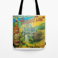 whiskey Tote Bags featuring Old Whiskey by Peaky40