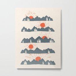 Sunrises... Sunsets... Metal Print