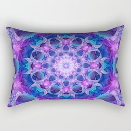 Angelic Gateway Mandala Rectangular Pillow