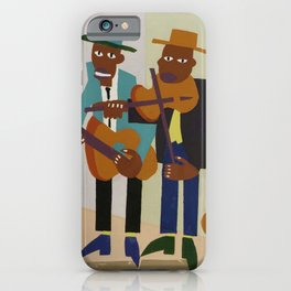African American Masterpiece 'Harlem Street Musicians' by William Johnson iPhone Case