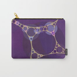 addison - royal purple shades grape heather pale gold abstract Carry-All Pouch