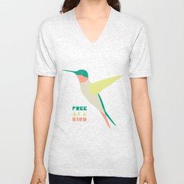 Free Humming Bird Unisex V-Neck