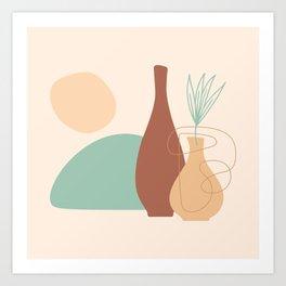 Still Life Flat Natural Shapes Art Print