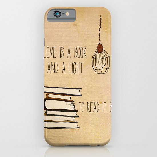 Love Is A Book iPhone & iPod Case