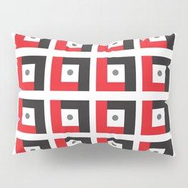 Red & Black L7 Squares Pillow Sham