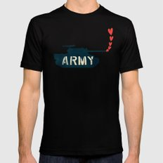 The Love Army MEDIUM Black Mens Fitted Tee