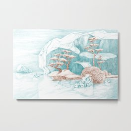 Arctic Mirage Metal Print