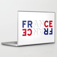 france Laptop & iPad Skins featuring France by CHR Design Posters