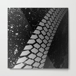 Grunge Skid Mark Metal Print