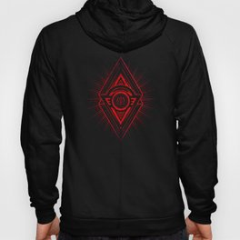 The Eye of Providence is watching you! (Diabolic red Freemason / Illuminati symbolic) Hoody