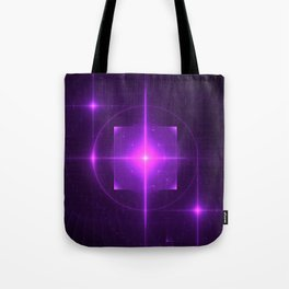 Purple Chakra Charging Tote Bag