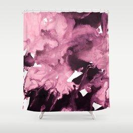 inkblot marble 6 Shower Curtain