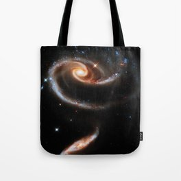 A Rose Made of Galaxies Tote Bag