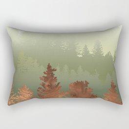 Treescape Green Rectangular Pillow