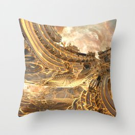 Highway by the Sun Throw Pillow