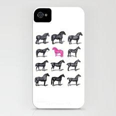 Brave Horses & Pink Pony iPhone (4, 4s) Slim Case